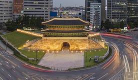 Old fortress sungnyemun Namdaemun gate stock photos
