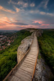 Old fortress at sunset Royalty Free Stock Images