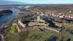Old fortress in Sweden. Footage stock video