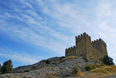 Old fortress at top of a hill Stock Images