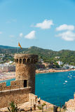 Old Fortress in Tossa de Mar Stock Image