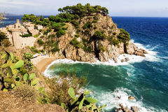 Old fortress in Tossa de Mar, Spain Royalty Free Stock Image