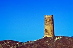 Old fortress tower in Al Mudayrib Stock Photography