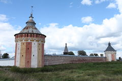 Old fortress Tower walls Stock Images