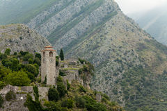 Old fortress town in the mountains. Stari Bar. Montenegro royalty free stock photos