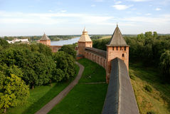 Old fortress in Velikiy Novgorod Stock Photo