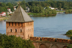 Old fortress in Velikiy Novgorod. Velikiy Novgorod is one of the oldest and most beautiful cities in Russia stock images
