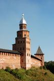 Old fortress in Velikiy Novgorod. Velikiy Novgorod is one of the oldest and most beautiful cities in Russia stock photo