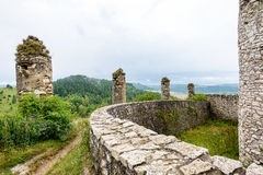 Old fortress view from far away royalty free stock photo