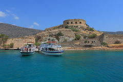 Old fortress on Spinalonga Royalty Free Stock Photos
