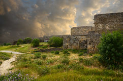 Old fortress wall Royalty Free Stock Photo