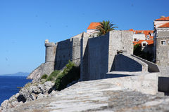 Old fortress wall of Dubrovnik Stock Photos
