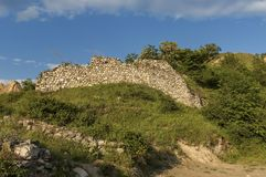 Old fortress wall in Melnik town Royalty Free Stock Images