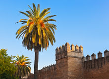 Old fortress wall in Seville Spain Royalty Free Stock Photos