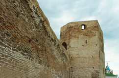 Old fortress. Old fortress (XIV-XVII) in Russia, Izborsk, near Pskov. Vview of the tower Talavskaya Royalty Free Stock Photos