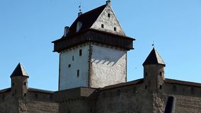 Old fortress zoom in stock video footage