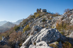 The old fortresses of Montenegro Stock Image