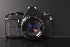 Old foto camera Stock Photography