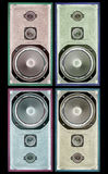 Old found speaker Stock Photo