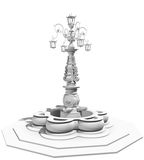 Old fountain 3d model Royalty Free Stock Photo
