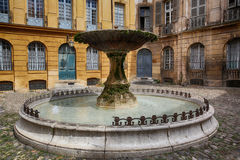 Old Fountain in Aix-en-Provence, France Stock Photo