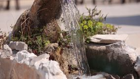 The old fountain. Architecture of Croatia stock footage