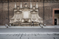 Old fountain in bologna Stock Photo