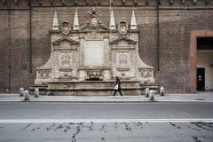 Old fountain in bologna Stock Photo