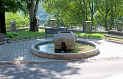 Old fountain in Buzet, Croatia Royalty Free Stock Photo