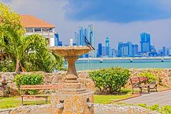 Old fountain in Cosco Viejo, Panama city Royalty Free Stock Images
