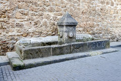 Old fountain and drinking trough in Burgo de Osma Stock Photography
