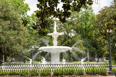 Old Fountain in Forsyth Park. Beautiful old fountain in Forsyth Park in Savannah, Georgia royalty free stock image