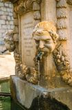 Old fountain in Gourdon Royalty Free Stock Photography