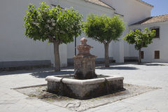 Old fountain on marketplace Royalty Free Stock Photo
