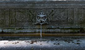 An old fountain on Mount Royal in Montreal, QC royalty free stock images