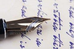 Old fountain pen old manuscript Stock Photos