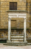 Old fountain, Pienza, Italy Royalty Free Stock Photos