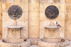 Old fountains in historic center of Tarragona,Spain.  Stock Photography