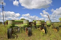 Old four row corn planter Stock Photography