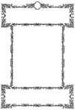 Old Frame. Black and White Isolated royalty free illustration