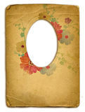 Old frame. Old paper frame in victorian style stock images