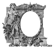Old Frame. Old Victorian Frame on a White Background stock illustration
