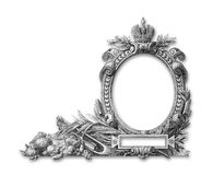Old Frame. Old Victorian frame  on a white background Stock Photography