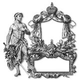 Old Frame. Old Victorian Frame And Let Man Royalty Free Stock Images