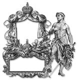 Old Frame. Old Victorian Frame and Right Man royalty free illustration