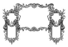 Old Frame. Old Victorian Frame on a White background vector illustration