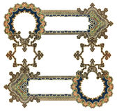 Old Frame. Old Color Victorian Frame on a white background Stock Photos
