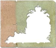 Old Frame. Frame carved into the old paper Royalty Free Stock Photos