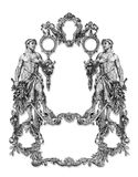 Old Frame. Old Victorian Frame And Two Man royalty free illustration