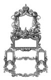 Old Frame. Old Victorian Frame on a White background Royalty Free Stock Image